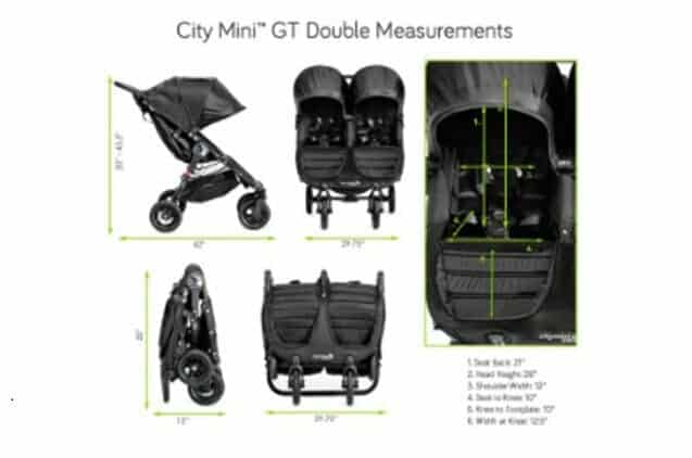 Baby Jogger City Mini Double dimensioni