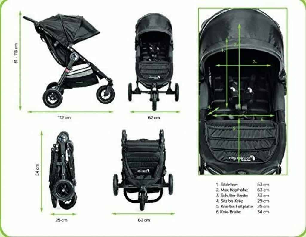 Baby Jogger City Mini GT dimensioni