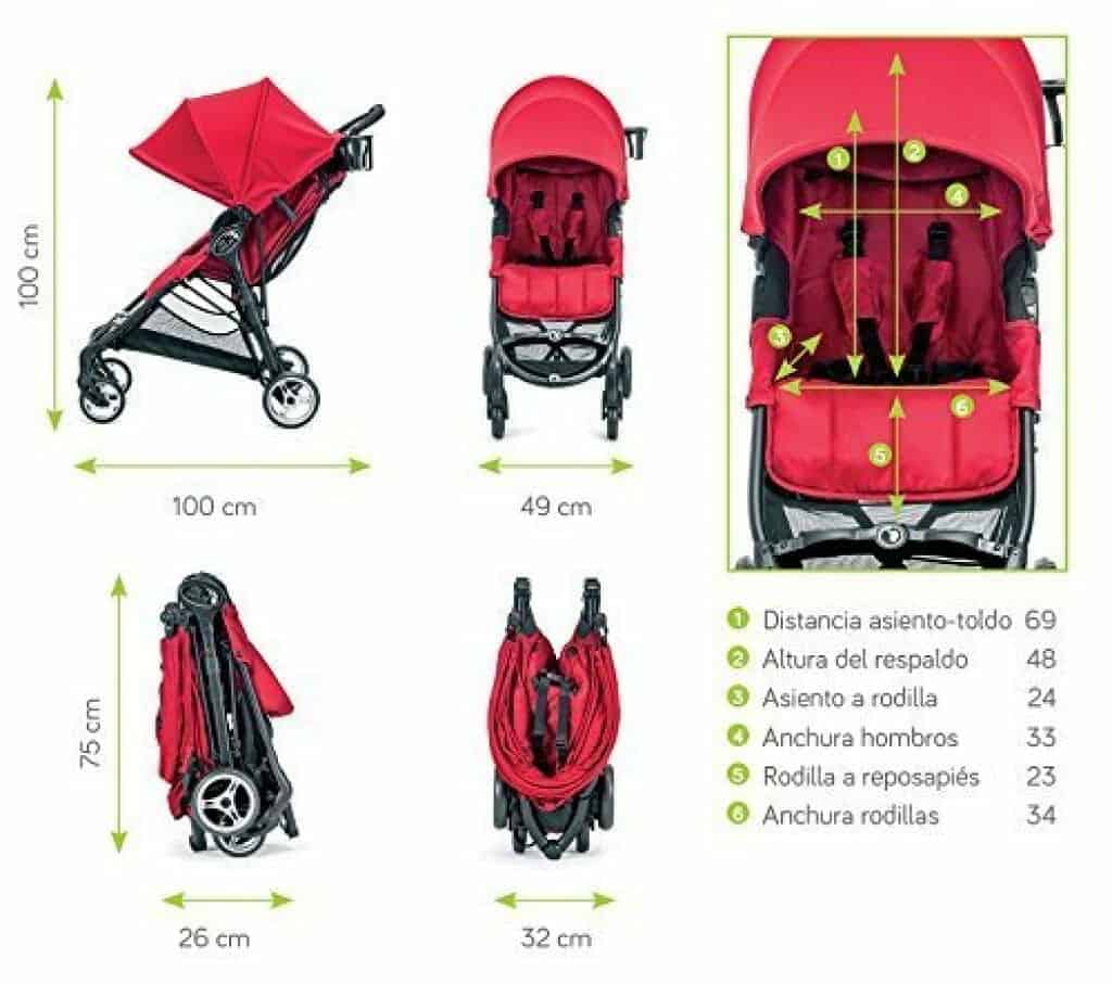 Baby Jogger City Mini Zip dimensioni
