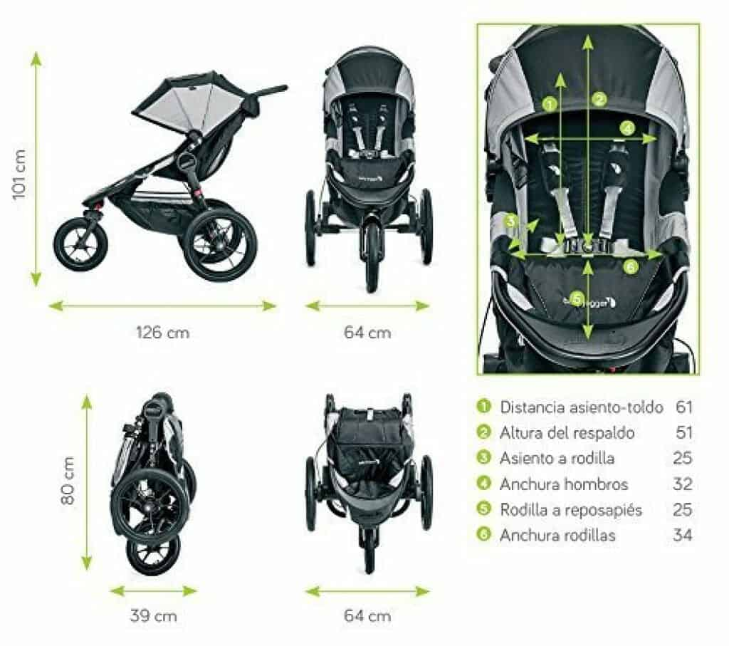 Baby Jogger Summit X3 dimensioni