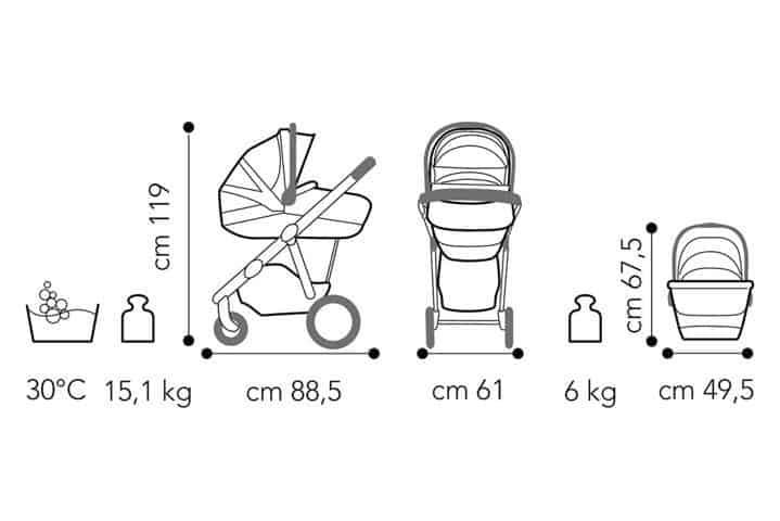 Brevi Ovo Premium dimensioni carrozzina