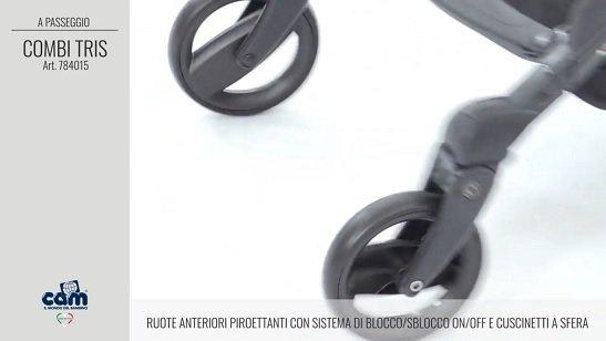 CAM Sistema Modulare Combi Tris ruote anteriori piroettanti