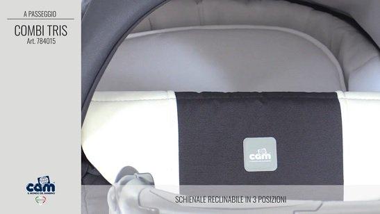 CAM Sistema Modulare Combi Tris schienale reclinabile in 3 posizioni