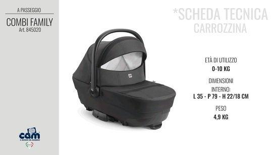 CAM Sistema modulare Combi Family scheda tecnica carrozzina