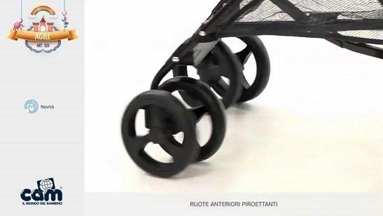 Cam Agile ruote anteriori piroettanti