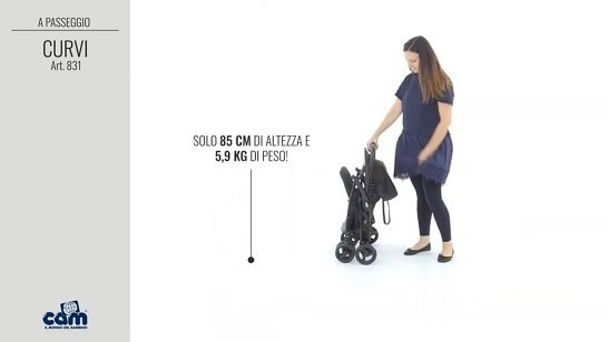 Cam Curvi altezza e peso