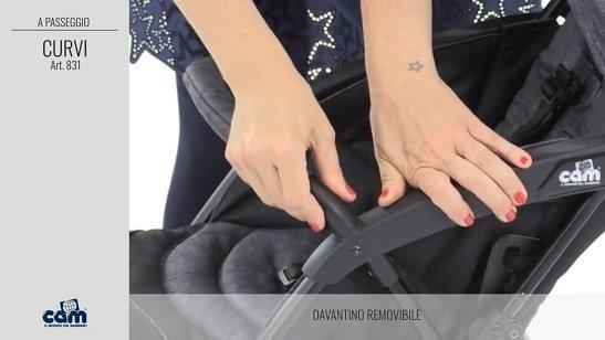 Cam Curvi barra di sicurezza removibile