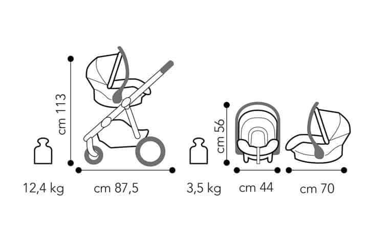 Brevi Ovo Premium dimensioni seggiolino auto