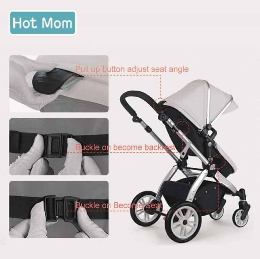 Hot mom buggy seduta reclinabile